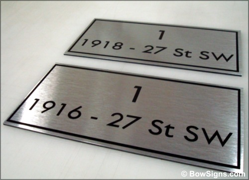 and installs office signs such as door name plates cubicle signs
