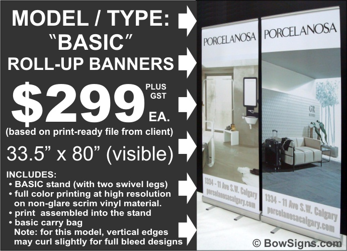 Calgary Basic Model Roll Up Retractable Banner Stand
