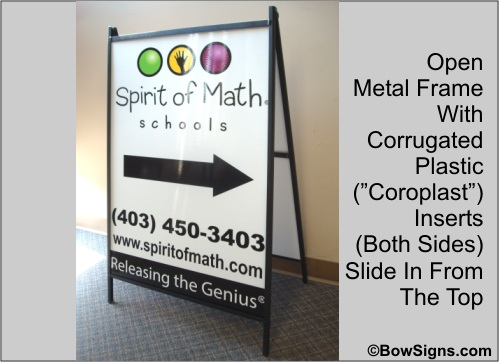 Calgary Metal Sandwich Board Frame With Inserts