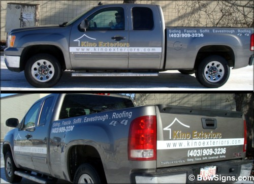 Calgary truck decals view
