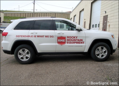 Calgary vehicle graphics printing and installations