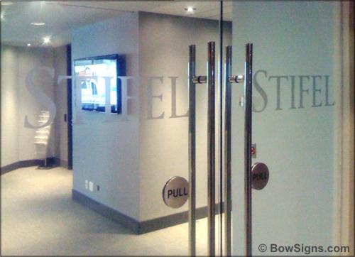 Push door signage push pull aluminum door sign set sc 1 st - Glass office door signs ...