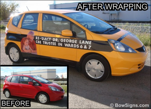 Calgary car wraps shop