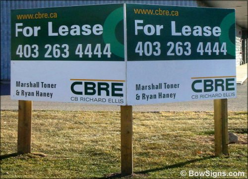 Calgary Alberta Commercial Real Estate Sign Manufacturing Company